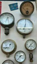 5 vintage pressure gauges & amp gauge - WILL SPLIT