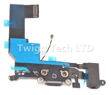 Per iPhone 5s NERO PORTA DI RICARICA-ricambio CARICABATTERIE DOCK USB Flex Apple