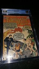 FANTASTIC FOUR # 6 - CGC 5.0 - 2nd DOCTOR DOOM - OFF WHITE TO WHITE PAGES