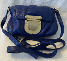 Michael Kors Small Royal Blue Caw Leather Crossbody Shoulder Bag