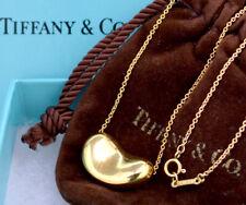 TIFFANY&Co Bean Necklace Peretti 18k Yellow Gold Pendant u312