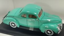 1939 FORD DELUXE MINT GREEN NEW IN BOX