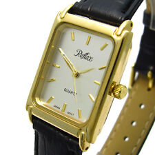 Gloss Women's Rectangle Wristwatches with 12-Hour Dial