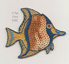 VAT Free Sew On Iron On Motif Groves Sequinned Animals Tropical Fish New