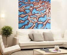 aboriginal art 80cm x 80cm  barrier reef  jane crawford seascape COA