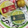 100 Stücke Frohe Weihnachten Paket Seal Sticker Weihnachtsbaum Label Aufklebe  J