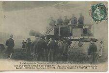 CARTE POSTALE / CATASTROPHE DU DIRIGEABLE MILITAIRE REPUBLIQUE 1909 NACELLE