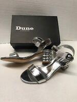 Womens shoes Dune London Whistle Jeweled Block Sandal Heels size 8 US