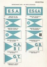 ARGENTINA AIR FORCE FLAGS Director of Military Schools Aviation Engineering 1958