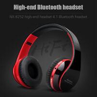 Wireless Bluetooth Headphone Over the Ear Headset Foldable Stereo Earphone Mic