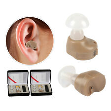 2pcs Mini Behind in Ear Sound Voice Amplifier Left Right Hearing Aid Adjustable