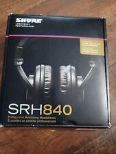 Shure SRH 840 Professional Studio Monitoring Headphones Used