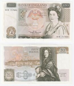 Bank of England £50 Banknote - Somerset (from 1981) BYB ref: BE253 - UNC.