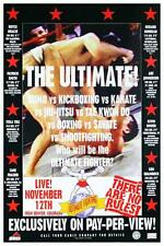UFC 1 the Beginning * LARGE POSTER * Royce Gracie Jiu-Jitsu  - Ultimate Fighting