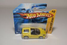 V 1:64 HOTWHEELS FERRARI F430 F 430 SPIDER YELLOW MINT BOXED ON CARD ERROR RARE!