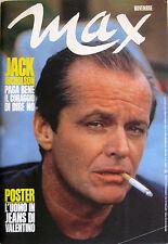 MAX 8 1985 Jack Nicholson Boy George Charlotte Rampling Sweet Gwendoline Altan