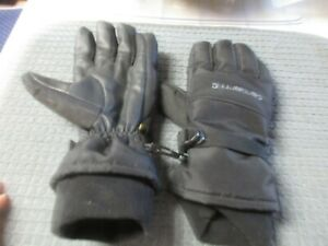 CARHARTT WATERPROOF COLD WEATHER INSULATED GLOVES A511 BLACK Large VGC Used