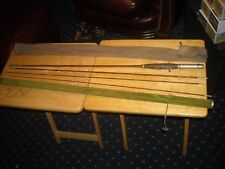 Vintage kingfisher fly rod  bamboo with original rod holder and canvas case use