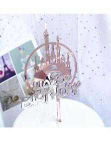 Disney Princess Castle Happy Birthday Cake Topper Party Decoration Pick