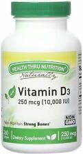 Vitamin D3 by Health Thru Nutrition, 360 softgels 10,000 IU
