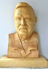 "LG 18"" Vintage LARRY NOWELL Hand Carved Tennessee Appalachian Wood Carver Bust"