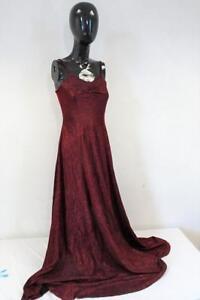 VINTAGE 1980s Sparkly Evening DRESS  Red/Black  Size UK 8      412 W