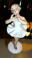 WALLENDORF SCHAUBACH GERMANY PORCELAIN BALLET DANCER SMALL GIRL DANCING 7533