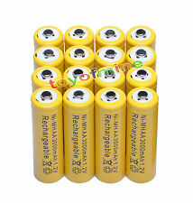 16pcs AA 2A 3000mAh Ni-MH Recharge Rechargeable Battery