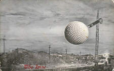 Golf Ball Advert. The Line. Card by D. & F. Livingstone, Tayport, Fife.