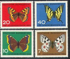 Germany 1962 Butterflies/Insects/Welfare/Nature/Animation 4v set (b372)