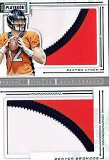 Paxton Lynch 2016 Panini Playbook Dual Patch Rookie Book Card /25