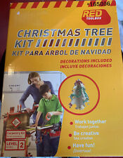 Wooden Christmas Tree, Make w/Decor -Red Toolbox Carpentry Craft Kit-New level 2