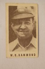 1940's Vintage G.J.Coles Cricket Card -  W.R.Hammond - Gloucestershire