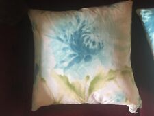 "2 BRAND NEW BLUE WATERFALL FEATHERS DECORATIVE PILLOWS 18""x18"""