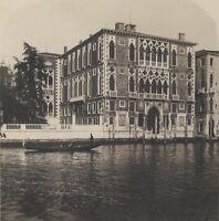 Venezia Palais Cavallini Italia Stereo Vintage Analogica Ca 1920