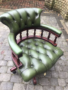 Vintage Chesterfield Captains Swivel Chair