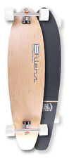 "Natural Wood Kicktail Longboard Skateboard 40"" x 9.75"" Complete"