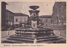 FAENZA - Fontana Monumentale e Piazza Umberto I 1940