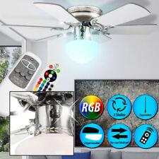 RGB LED Decken Ventilator Flur Kühler Lampe Glas Lüfter Fernbedienung DIMMER