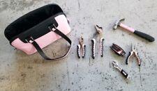 Womens Pink Tool Kit Bag 7pc