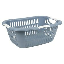 Blau 26L Wäsche Zimmer Korb Mit Faltbar Griffe Aufbewahrung Waschen Bin Plastik