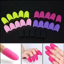 5x Nail Polish Remover Caps Silicone UV Gel Finger Nail Soak Off Clip Clamp