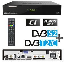 HDTV DVB-T2 DVB-S2 Combo + Edision SAT Kabel Terrestrischer H.265 Receiver H.265