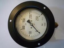 Manometer HAENNI Bourdon Ø 110 mm 0 - 250 bar 0-250kp/cm² NOS