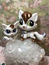 Littlest Pet Shop~#45~#46~Fox~Lulu & Reynard Foxley~Gold Silver~Pawsability