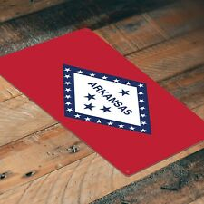 Arkansas State Flag Printed Aluminum Sign   12-Inch by 8-Inch   FS103