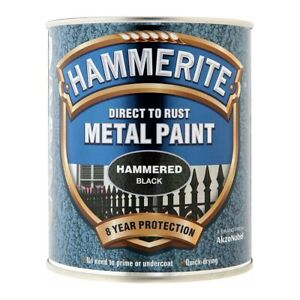 Hammerite Direct To Rust Metal Paint - HAMMERED 750ml - 9 COLOURS