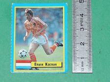 ERWIN KOEMAN NEDERLAND MALINES FOOTBALL 1989-1990 VALLARDI MINI CARD PANINI