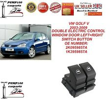 VW GOLF V 2003-2009  DOUBLE ELECTRIC CONTROL POWER WINDOW DOOR SWITCH BUTTON NEW