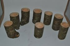 Black Birch Reclaimed Wood Lot of 8 Tea Candle Holders Rustic Primitive Wedding